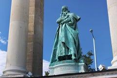 BUDAPEST WĘGRY, SIERPIEŃ, - 08, 2012: Rzeźba królewiątko Bela IV Kollo Miklos, 1905 Fotografia Royalty Free