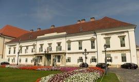 Budapest Węgry, Sierpień, - 30, 2018: SÃ ¡ ndor pałac Sandor-palota jest oficjalną rezydencją prezydent Węgry, i fotografia stock