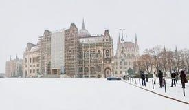 Budapest - Węgierski parlament Obrazy Stock