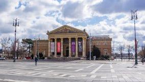 Budapest W?gry 03 15 2019 galeria sztuki bohatera kwadrata strona obraz stock