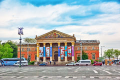 BUDAPEST, WĘGRY, - MAJ 02, 2016: Hall sztuka, Budapest (Palac Obrazy Stock