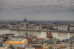 Budapest, Węgry - widok na centrum miasto Zdjęcie Stock