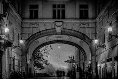 budapest wieczór Fotografia Stock