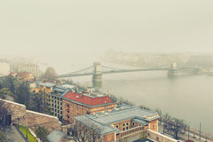 Budapest Winter Mist, Hungary Royalty Free Stock Photo