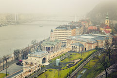 Budapest Winter Mist, Hungary Royalty Free Stock Photos