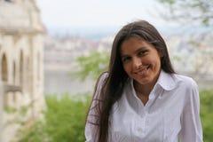 Budapest Woman Tourist Royalty Free Stock Photo