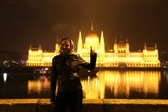 Budapest Woman Traveler Stock Photos