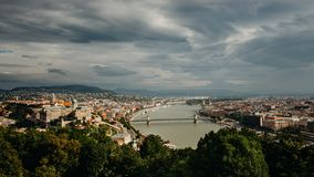 Budapesta view from Citadela royalty free stock image