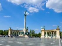 Budapeszt 1 bohatera square Zdjęcie Royalty Free