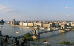 Budapeszt 1 panorama Obrazy Royalty Free