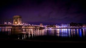 Budapeszt na most łańcuch Zdjęcie Stock