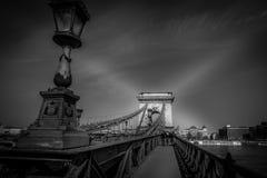 Budapeszt na most łańcuch Obrazy Royalty Free