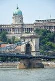 Budapeszt na most łańcuch Zdjęcia Royalty Free