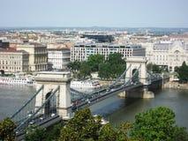 Budapeszt na most łańcuch obraz royalty free