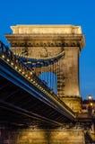 Budapeszt na most łańcuch Obraz Stock