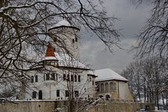 Budatin castle in winter time, Slovakia Stock Images