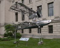 Budd BB-1 Pioneer Aircraft in front of the Franklin Institute, Philadelphia, Pennsylvania Royalty Free Stock Image