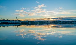 Budd Inlet Sunrise fotos de stock royalty free