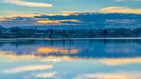 Budd Inlet Sunrise fotografia de stock
