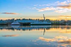 Budd Inlet Sunrise foto de stock royalty free
