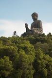 budda香港雕象 免版税库存照片