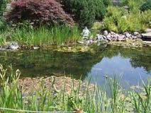 Budda à l'étang Photo stock