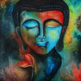 Budda, τέχνη, εικόνα Στοκ φωτογραφίες με δικαίωμα ελεύθερης χρήσης