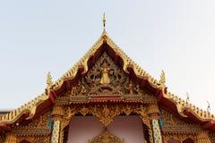 Budda Ταϊλανδός εκκλησιών στεγών Στοκ εικόνα με δικαίωμα ελεύθερης χρήσης
