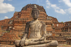 Budda in Ayutthaya. Thailand history royalty free stock photo