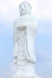 Budda bianco diritto fotografia stock