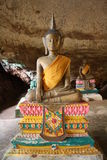 Budda Cave Temple. Statue of Budda from a cave in Thailand Stock Photo