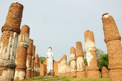 Budda with column. White budda with the column Stock Images