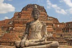 Budda en Ayutthaya Foto de archivo libre de regalías