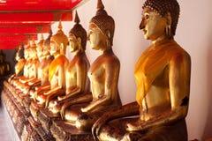 Budda en el templo, tailandés de Asia Fotografía de archivo
