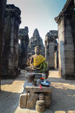 Budda King of Angkor wat Stock Images