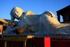 budda rzeźby śpi zdjęcie stock