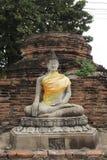 Budda-Statue bei Wat Yai Chai Mongkon, ein buddhistischer Tempel in Ayutthaya, Thailand Stockfotos