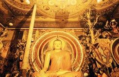Budda statue in Gangaramaya Temple Royalty Free Stock Photo