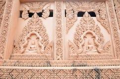 Budda statue wall Stock Photography