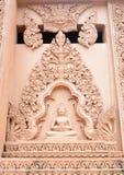Budda statue wall Stock Photos