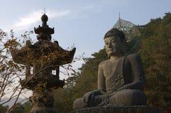 Budda staty i Icheon Arkivfoton
