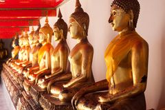 Budda in temple,thai of asia. Budda in temple,south of asia,art thai Stock Photography