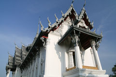 Budda Temple. White Buddist Temple in Thailand Stock Images