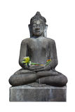 Budda in Thailand met witte achtergrond Royalty-vrije Stock Foto's