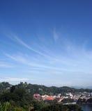 Budda - vanaf de bovenkant - de Mening van de Stad Stock Fotografie