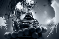 Buddah - πυροτεχνήματα Στοκ φωτογραφία με δικαίωμα ελεύθερης χρήσης