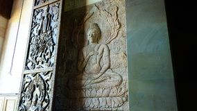 Buddah. Of Temple in Thailand royalty free stock photos