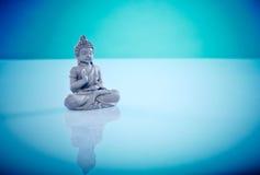 Buddah cinzento na pose dos lótus Fotos de Stock