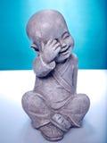 Buddah en pierre riant Photo stock