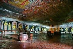 Buddah et peinture dans le tempel de D Images libres de droits